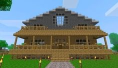 Minecraft house - I like the front porch
