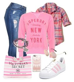 """Desportivo"" by alice-fortuna ❤ liked on Polyvore featuring Hollister Co., Superdry, Victoria's Secret, adidas, Casetify, Michael Kors and Lizzy James"