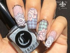 My blog: Nails by Cassis http://cassispeach.blogspot.com.au/ This is the tutorial for Delicate Plaid & Flower stamping nail art. http://cassispeach.blogspot....