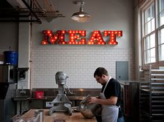 Photography by: Matthew Foster  Great combination of Meat and DIY aesthetic