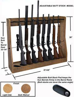 Quality Rotary Gun Racks, quality Pistol Racks - Adjustable Vertical Gun Rack (Floor Stand or Wall Mount)