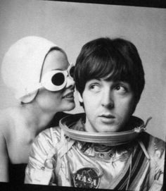 Jean Shrimpton and Paul McCartney by Richard Avedon, 1965.