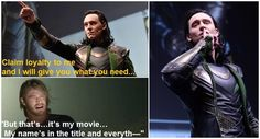 Take note Marvel!  We want more Loki!  A little bit of Loki in the bonus credits scene in Avengers 2 perhaps?  You know, since you didn't see fit to put him IN the movie.