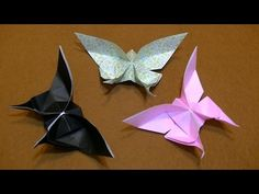 【折り紙】リアルできれいな蝶々の折り方 Evi Binzinger How to make an origami Butterfly - YouTube