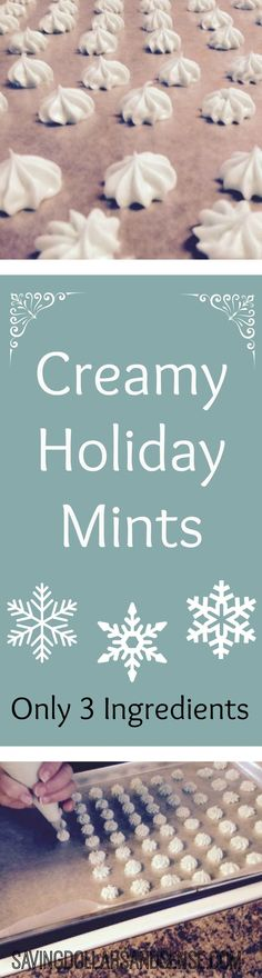 This simple recipe for Homemade Creamy Peppermints make a nice DIY Holiday gift for anyone on your list this year. Christmas gifts #christmasgifts Holiday gifts