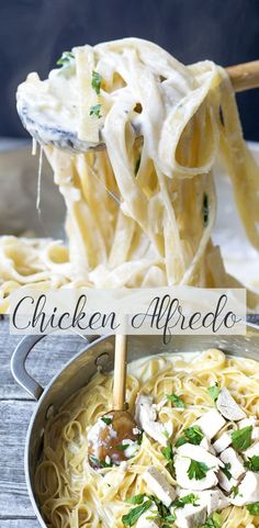 Easy Chicken Alfredo is a simple dinner recipe for any occasion. I love this creamy indulgent sauce. This pasta is the ultimate Italian comfort food.