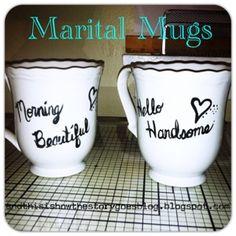 {Marital Mugs; Shower/Wedding gift} DIY for $10 or less!