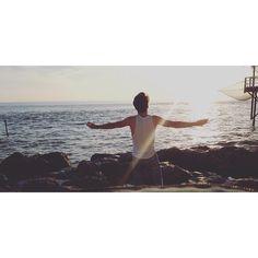 - Make à Space, for my mind . #picofday #sunset #royan #boy #leavemealone #sea #view