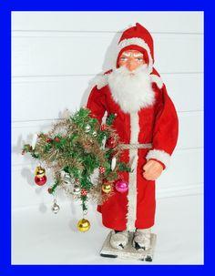 █   Vintage Santa - Belsnickle - Nikolaus - Candy Container   █   (# 4002)