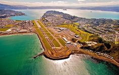 Wellington airport, New Zealand Tasmania, The Beautiful Country, Beautiful Places, New Zealand Image, Princess Cruises, Adventure Tours, South Island, Birds Eye View, Pacific Ocean