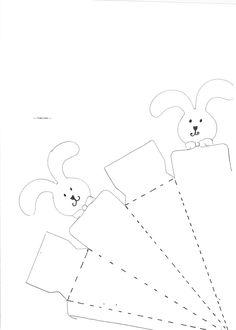 Molde Happy Easter Imagenes | Clique na caixa de páscoa com coelhinhos para imprimir, ampliar ou ...