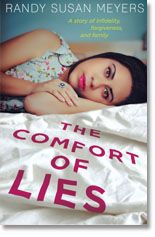 The Comfort of Lies by Randy Susan Meyers. The story of three women, Tia, Caroline and Juliette, whose lives all intersect because of their connection to one man, Nathan. The book is told from all four of these characters' perspectives, and we come to understand in separate, interconnected pieces what their ties are, and how they're going to affect each other when they become aware of one another.