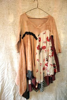 Shabby Chic Tunic for Fall, Romantic, Junk Gypsy Style
