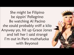 Nicki Minaj - Girls Fall Like Dominoes Lyrics Video - YouTube