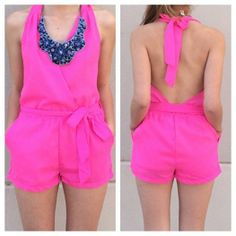 Cute hot pink romper!!!!!