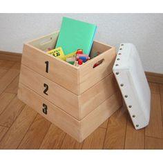 『naKIDS』  跳び箱風おもちゃ箱(おもちゃ収納)