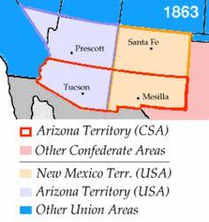 Location of Arizona Territory