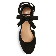 Women's Tess Ghillie Flat Lace Up Ballerina Round Toe Ballet Flats Mossimo Supply Co. - Black 5.5