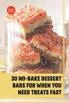 No oven? No problem. Try our no-bake bar recipes.