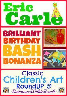 Eric Carle Birthday Party: RoundUP of Children's Art