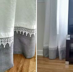 Trendy Sewing Room Curtains Home Ideas No Sew Curtains, Grey Curtains, Curtains With Blinds, Bedroom Curtains, Diy Bedroom, Window Coverings, Window Treatments, Curtain Length, Curtain Designs