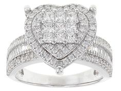 Bella Luce® 2.36ctw Rhodium Over Sterling Silver Ring (1.41ctw DEW)