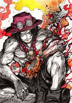 Ace from One Piece ^^ Definitely one of the most memo. ACE - ink sketch giveaway again Portgas Ace, Akuma No Mi, Zoro, Anime Lock Screen, Ace And Luffy, Black Clover Anime, One Piece Ace, 0ne Piece, Animation