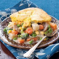 40 no-meat meals///Veggie Cobbler
