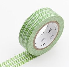 Washi Tape MT Tape Green Plaid Japanese Grid by ModernTape on Etsy, $4.00