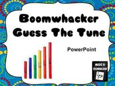 Boomwhacker Guess The Tune for PowerPoint- A fun game that helps students read music and play an instrument. Students try and guess the song they are playing.