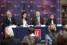 Angelina Jolie Pitt, @WilliamJHague @craigjcalhoun and Christine Chinkin open Women, Peace and Security Centre at LSE