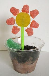 Dig Into Cooking: Edible Art: Ice Cream Flowerpots (can also substitute traditional dirt cake recipe for ice cream. Cindy deRosier: My Creative Life