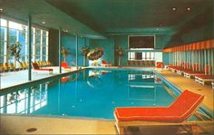 Indoor pool at the Fallsview hotel, 1950 Ellenview, New York