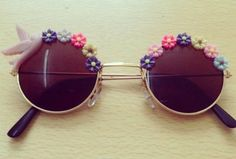sunglasses cute floral birds pink summer glasses colorful