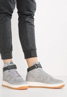 Köp Nike Sportswear AIR FORCE 1 HI PRM - Höga sneakers - wolf grey/midnight fog/sail för 1295,00 kr (2017-02-03) fraktfritt på Zalando.se
