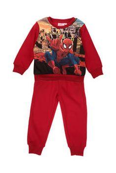 Ensemble Pull et bas jogging imprimé Spiderman