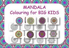 Mandala Coloring Pages For Big Kids