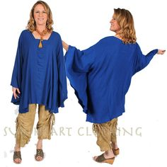 Sunheart bohemian Hippie Chic Rouched plus by SUNHEARTCLOTHING, $89.00