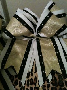 Texas Size Cheer Bow 3 Layer with Rhinestones. $15.00
