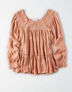 Shop Women's Blouses from American Eagle today! Our Blouses for Women are available in a variety of styles, colors and fits including lace, floral, peasant, smocked and more. Boho Outfits, Fashion Outfits, Crochet Tank Tops, Mens Outfitters, Eagle Outfitters, American Eagle Outfits, Peasant Tops, Fashion 2020, Blouses For Women