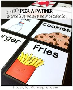 Choosing partners can be a daunting task for teachers and students alike. These cards are a fun, random way to help with assigning partners in the classroom!