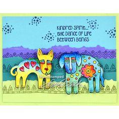 Laurel Burch Cling Dog Park Stamp Set