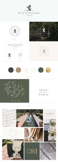 Winterhome Garden brandboard by January Made Design Visual identity that is simple and modern with elegant vibes Classic and timeless branding perfect for interior desig. Luxury Graphic Design, Elegant Logo Design, Design Websites, Brand Identity Design, Branding Design, Identity Branding, Corporate Identity, Made Design, Ci Design