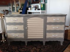 Revived With French Linen and Country Grey Chalk Paint® @Phantastic Phinds