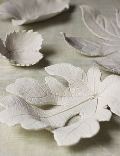 suzonne stirling - air-dry clay leaves