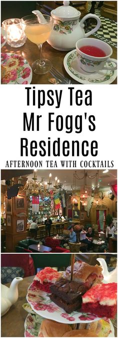 Mr Fogg's Residence in Mayfair London for Tipsy Tea (aka Afternoon Tea with Cocktails) England, UK  #uktravel #London #afternoontea