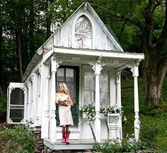 "Outside of the beautiful Victorian garden ""shed"""