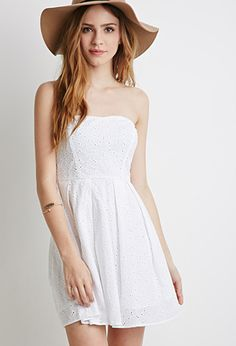 Embroidered Sweetheart Dress | Forever 21 - 2000052803   25.00 ZAZA