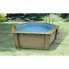 piscine hors sol bois hawaii 410 ubbink hexagonale diam 41 m franck pinterest piscine hors sol bois piscine hors sol et leroymerlin fr - Piscine Bois Leroy Merlin Hors Sol