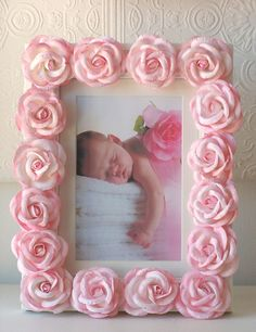 Pink Rose Picture Frame available at Jack and Jill Boutique.